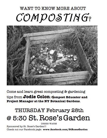 St. Rose's Compost Flyer